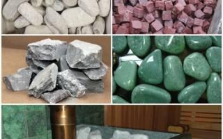 Какие камни можно использовать для бани?