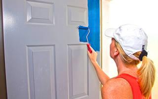 Как покрасить дверь из ДВП?