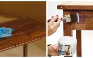 Как покрасить стол из дерева?