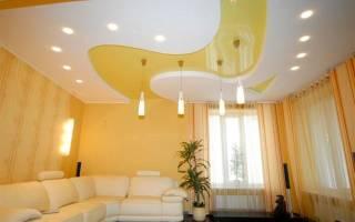 Как расположить светильники на натяжном потолке?