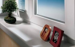 Как закрепить подоконник к пластиковому окну?
