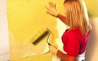 Как покрасить старые обои водоэмульсионной краской?