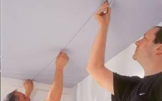 Как разметить потолок под гипсокартон?