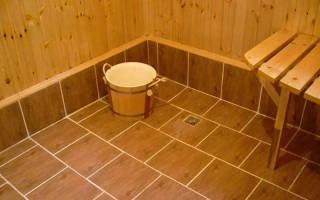 Как класть плитку в бане под уклон?