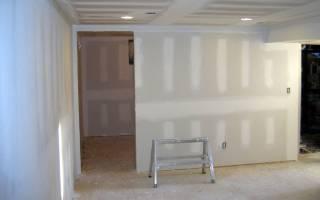 Как прикрепить гипсокартон к стене без профиля?