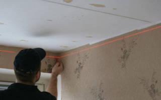 Как крепить направляющие для гипсокартона на потолок?