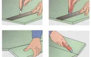 Как разрезать гипсокартон в домашних условиях?