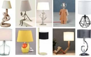 Как крепить настольную лампу к столу?