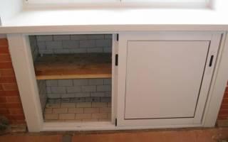 Как сделать холодильник под окном своими руками?