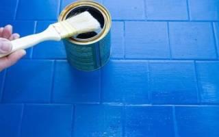 Как покрасить керамическую плитку на полу?