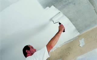 Как правильно красить потолок водоэмульсионной краской валиком?