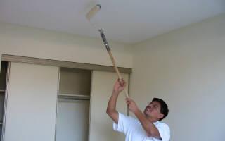 Как покрасить побеленные стены?