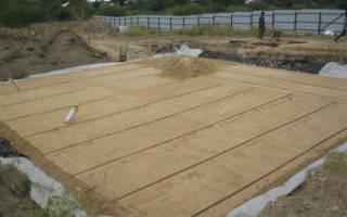 Подушка под фундамент песок или щебень