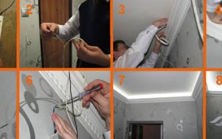 Как установить светодиодную ленту на потолок?