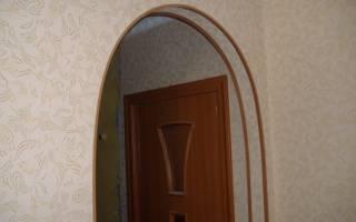 Как покрасить арку из гипсокартона?