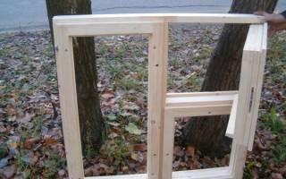 Как самому сделать окно из дерева?