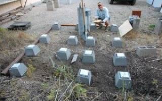 Как сделать столбчатый фундамент из блоков?
