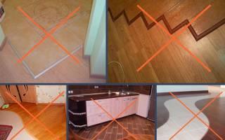 Как заделать стык между плиткой и ламинатом?